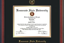 KSU - Kennesaw State University Official Diploma Frames / Official KSU Diploma frames. Exquisitely crafted to exacting specifications for the KSU diploma. Custom framed using hardwood mouldings and all archival materials, including UV glass to prevent fading from sunlight AND indoor incandescent lighting! Each frame exceeds Library of Congress standards for document preservation and includes a 100% lifetime guarantee, ensuring that a hard-earned achievement will be honored and protected for generations. Makes a thoughtful and unique graduation gift!