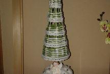 vánoce / papírové pletení