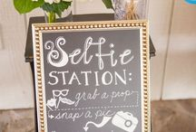 Selfie Stations / Creative and fabulous selfie stations at weddings and parties