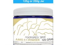 Natural Powders and Capsules / There are many natural substances and nootropics that have been shown to boost functionality in your brain. Whether it be from increasing blood flow, increased levels of amino acids, essential fatty acids, antioxidants, and more.