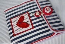 Sailor style / anchor, boat, sea animals, fish, whale, dolphin, shark, beach hut, beach towel and bag etc. to sew