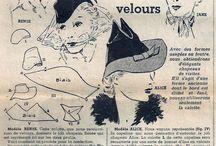 Matchmaker Hat shop / 30-40s style hat patterns for production