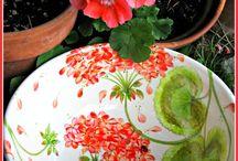 Tabak ve vazo boyama