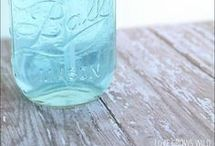 DIY Glass projects / Many craft projects to make with old glass, bulbs, mason jars etc.
