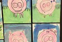 Kindergarten farm art