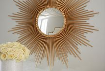 Sunburst mirrors and others
