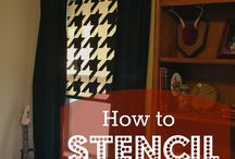 Stenciled Window Shades / Stenciled window shades and blinds.
