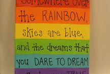 Rainbow theme for work