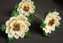fleurs en perles
