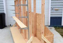 Plywood storage ideas