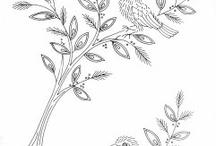 embroidery patterns / moldes para bordar