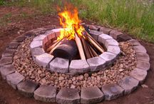 Firepit Ideas / Someday we'll finish that outdoor fire pit...