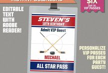 Ice Hockey Party Ideas & Printables / Decorate your Ice Hockey Party with this amazing printables and ideas!