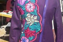 Mis creaciones / Todo loq ue pueda salir de trabajos realizado a mano y con materiales textiles.