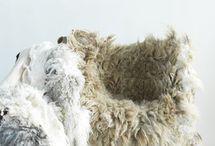 Vachtvilten / vilten uit één vacht of vachtdeel van echte, pure wol