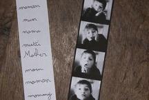 Photo enfant fêtes des parents ( mere et père ) / Des idées de photos pour les activités fête des pères et mères , présentation type photomaton 4 photos différentes et rigolote. Ou photo avec un cadre et quelque photos
