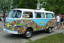 vw hippy print