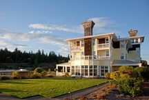 Port Ludlow Inn / The Port Ludlow Inn is a delightful waterfront bed-and-breakfast style inn that was inspired by New England's classic coastal summer homes.   In each of our beautifully appointed guest rooms, you will find numerous amenities which include: Gas Fireplaces Cozy Sitting Areas Keurig Gourmet Coffee Makers Step-In Showers and Oversized Jetted Tubs Handmade Sweet Life Farms Bath Salts, Soaps, & Lotion Bars  Most rooms also provide spectacular water and mountain views and even private balconies.