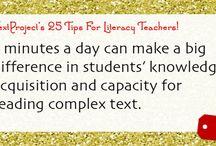 25 Tips for Literacy Teachers