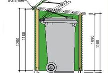 Garbage can shed