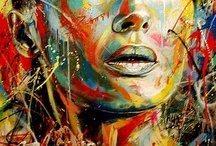 Acrylique fluide abstrait
