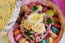 flores y macarrones