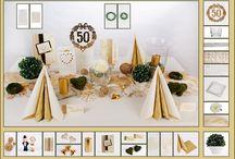 Tischdeko Goldene Hochzeit