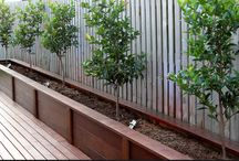 Timber garden beds retaining walls