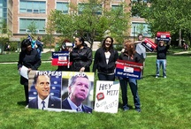 Romney protest Otterbein University, Westerville, OH