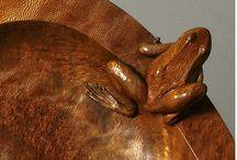Carving - fish, amphibians, lizards