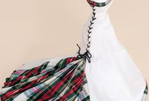 scottish tartan wedding gowns