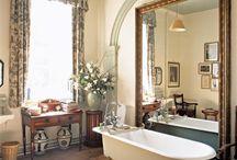 The English Bathroom / english bathroom, vintage style, bathroom ideas, shabby chic bathroom ideas, free standing bath, traditional bathrooms, vintage bathrooms, period style bathrooms, farmhouse bathrooms, claw foot tub