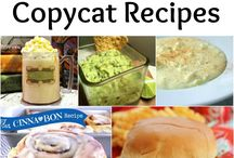 Sneaky Copy Cat Recipes / Shhh...Just Cook and be quiet. They will never know...
