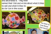 Exploring Ocean in Kindergarten / This board includes ideas, activities, and resources for exploring ocean habitat in kindergarten.