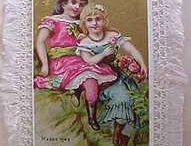 OLD GREETING CARD COLLECTION