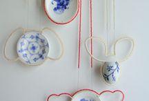 Porcelain kawaii mascots