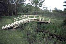 Poduri lemn gradina