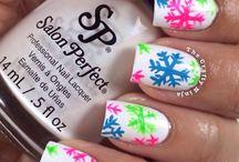 Nail art !!! / Snowflake nail art