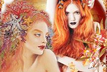 Sirènes Blanc /Orange / Gif