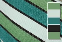 Koberečky z Oravy - zelené / Rag Rugs - Green