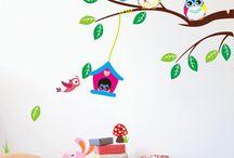 Disegni pareti camerette bambini