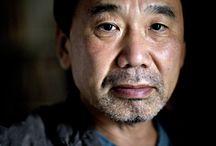 Haruki Murakami / Haruki Murakami and his books.