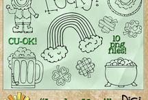 CU Digitals: St Patrick's Resources / St Pat - Patrick's - Patty's Day commercial use digital scrap art