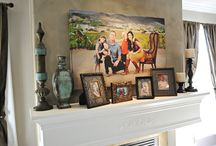 Ideas for my mantle... / by Heather Wells
