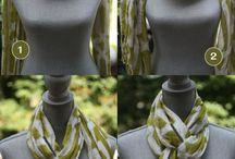 завязать шарф, платок