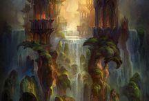 Forrests, magical, elfen buildings
