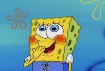 """SpongeBob SquarePants / SpongeBob SquarePants ,Patrick Star, Squidward Tentacles, Mr. Eugene H. Krabs , Sheldon J. Plankton, Karen, Sandy Cheeks, Garold Wilson """"Gary"""" Snail Jr all live in Bikini Bottom"""