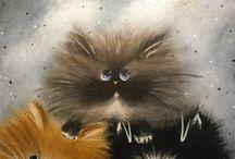 Cats Painting Acrylic