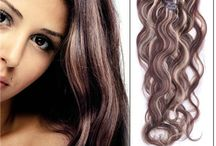 Clip in human hair extensions / Clip In Human Hair Extension made of superior hair that can be curled straightened and dyed to match your own hair perfectly.Exquisite machine stitched craft makes hair secure in the weft.Clip-in hair extensions are available in many colors and widths.They also come in a variety of lengths -- some as short as 1 inch.