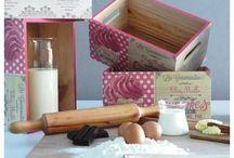 Fantásticas cajas de Repostería / Divertidas, elegantes y originales cajas para tus utensilios de repostería. ¡Cocina con estilo!